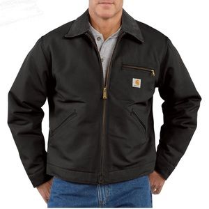 Carhartt Duck Detroit Blanket Lined Jacket Black